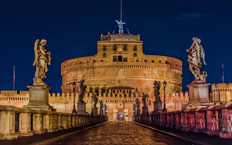 Rome by Night: St. Angel's Castle