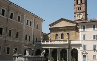 The Basilica of St. Mary's in Trastevere, Rome