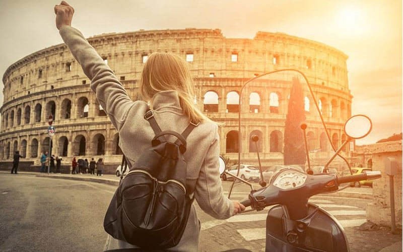 Colosseum in Rome. Rent a Vespa and Visit it!
