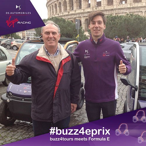 Peter Hall with Alex Lynn from DS Virgin Racing