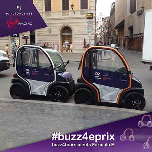 Rome ePrix: Our Buzz dressed for the occasion