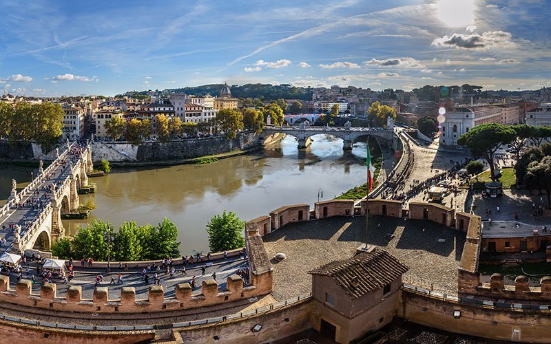 Panoramic view from Castel Sant'Angelo